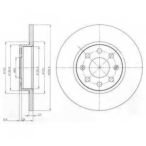 Тормозной диск DELPHI BG4155 - изображение