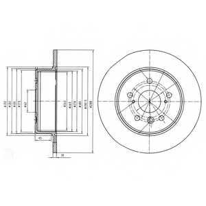 Тормозной диск DELPHI BG4156 - изображение