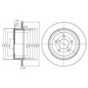 Тормозной диск DELPHI BG4159 - изображение