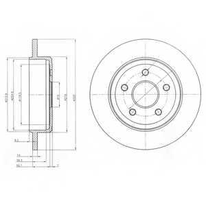 Тормозной диск DELPHI BG4160 - изображение