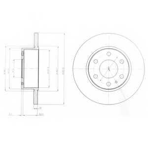 Тормозной диск DELPHI BG4164 - изображение