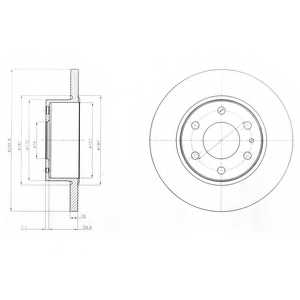 Тормозной диск DELPHI BG4165 - изображение
