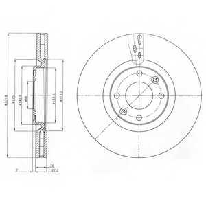 Тормозной диск DELPHI BG4166 - изображение