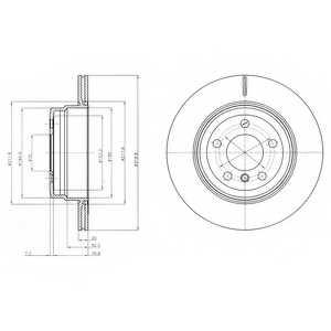 Тормозной диск DELPHI BG4168 - изображение