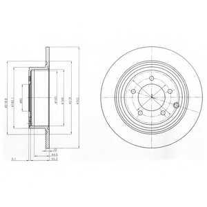 Тормозной диск DELPHI BG4169 - изображение