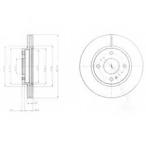 Тормозной диск DELPHI BG4170 - изображение