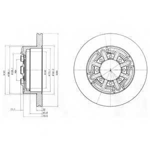 Тормозной диск DELPHI BG4171 - изображение