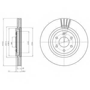 Тормозной диск DELPHI BG4176 - изображение