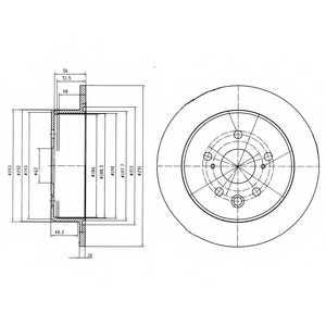 Тормозной диск DELPHI BG4178 - изображение