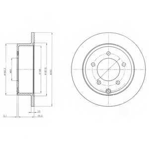 Тормозной диск DELPHI BG4179 - изображение