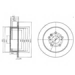 Тормозной диск DELPHI BG4180 - изображение