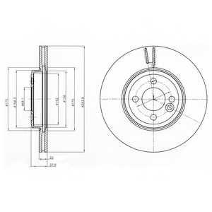 Тормозной диск DELPHI BG4184 - изображение