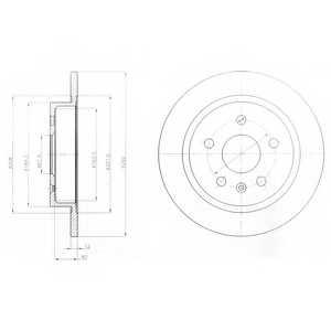 Тормозной диск DELPHI BG4188 - изображение