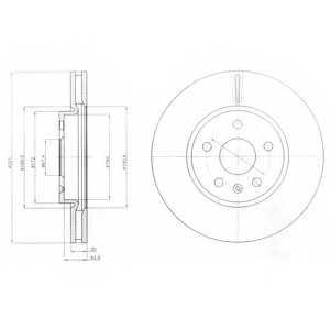Тормозной диск DELPHI BG4189 - изображение