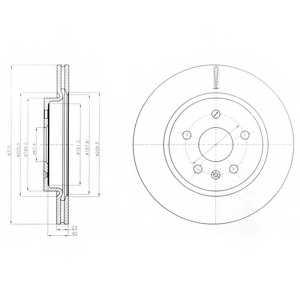 Тормозной диск DELPHI BG4190 - изображение