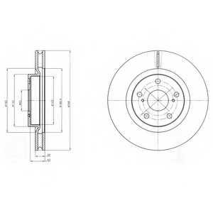Тормозной диск DELPHI BG4192 - изображение