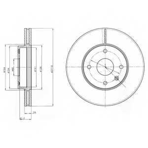 Тормозной диск DELPHI BG4193 - изображение