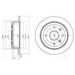 Тормозной диск DELPHI BG4194 - изображение
