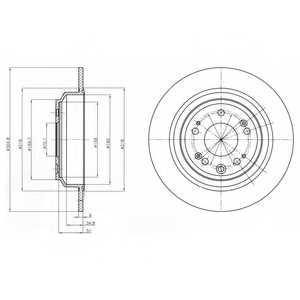 Тормозной диск DELPHI BG4196 - изображение