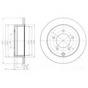 Тормозной диск DELPHI BG4198 - изображение
