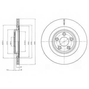 Тормозной диск DELPHI BG4202 - изображение