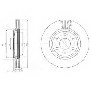 Тормозной диск DELPHI BG4205 - изображение