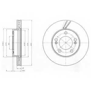 Тормозной диск DELPHI BG4206 - изображение