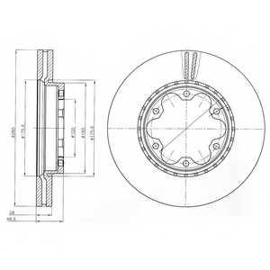 Тормозной диск DELPHI BG4210 - изображение
