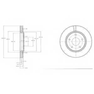 Тормозной диск DELPHI BG4212 - изображение
