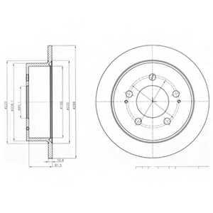 Тормозной диск DELPHI BG4220 - изображение