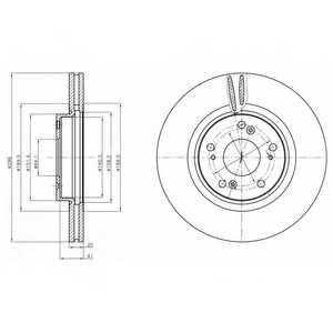 Тормозной диск DELPHI BG4224 - изображение