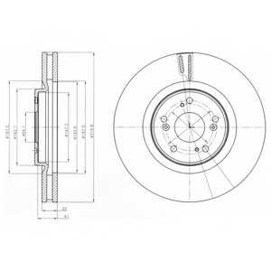 Тормозной диск DELPHI BG4225 - изображение