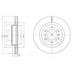 Тормозной диск DELPHI BG4228 - изображение