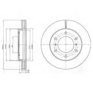 Тормозной диск DELPHI BG4229 - изображение