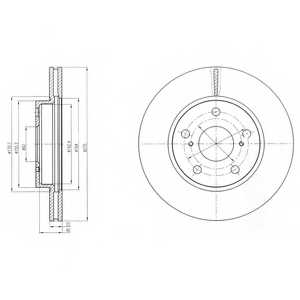 Тормозной диск DELPHI BG4232 - изображение
