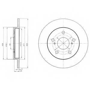Тормозной диск DELPHI BG4233 - изображение