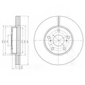 Тормозной диск DELPHI BG4234 - изображение