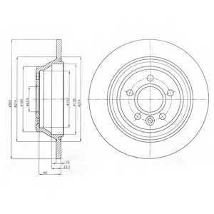 Тормозной диск DELPHI BG4238 - изображение
