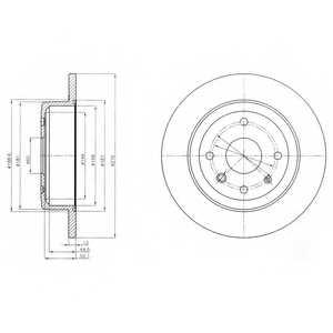 Тормозной диск DELPHI BG4244 - изображение