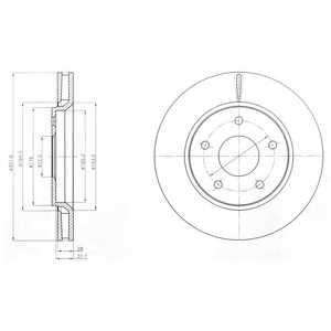 Тормозной диск DELPHI BG4248 - изображение
