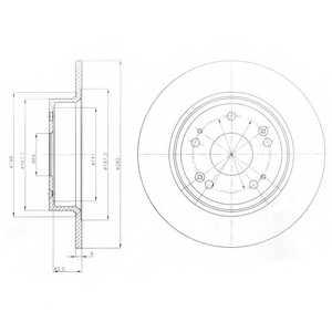 Тормозной диск DELPHI BG4249 - изображение