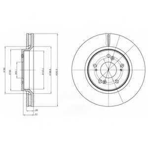 Тормозной диск DELPHI BG4250 - изображение