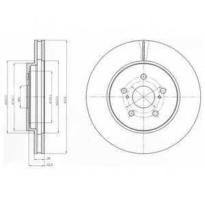 Тормозной диск DELPHI BG4253 - изображение