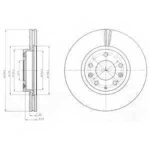 Тормозной диск DELPHI BG4255 - изображение