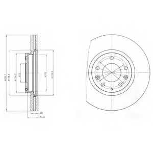 Тормозной диск DELPHI BG4256 - изображение