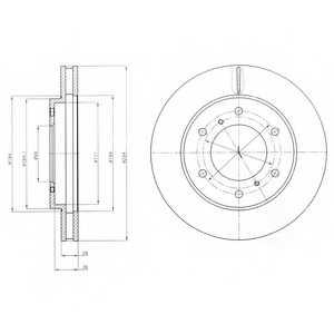 Тормозной диск DELPHI BG4257 - изображение