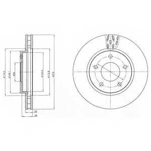 Тормозной диск DELPHI BG4258 - изображение