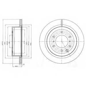 Тормозной диск DELPHI BG4263 - изображение