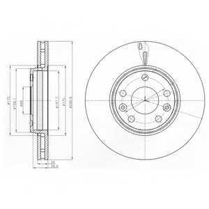 Тормозной диск DELPHI BG4264 - изображение