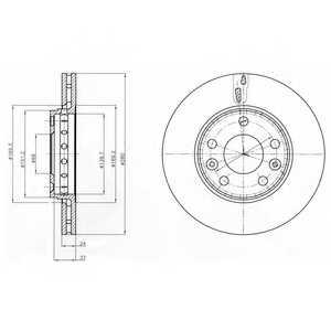 Тормозной диск DELPHI BG4265 - изображение